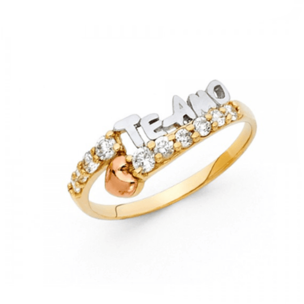 ENGAGEMENT - AMOR INFINITO 14K CZ RING