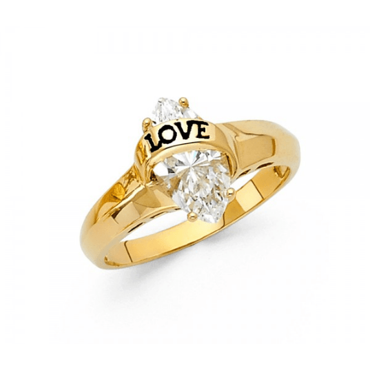 ENGAGEMENT - INLOVE RING 14K CZ