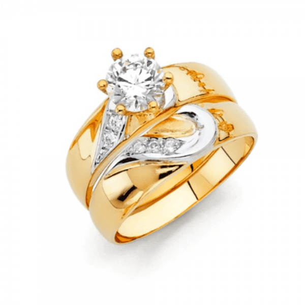 ENGAGEMENT - Inside Love Engagement 14K Duo Rings