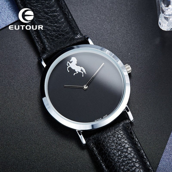 EUTOUR Ultra Thin 0.7mm Horse Man Watch Military GTA5 Sport Men Business Male The Minimalist Japanese Core Simple Wristwatches