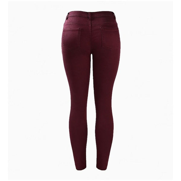 JEANS - Pretty Burgundy Jeans