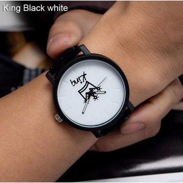 King Queen Watches Women Lovers Wristwatch Men Brand Fashion Female Male Quartz Watch For Gentlemen Ladies