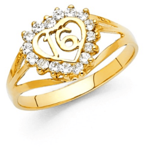 RINGS - Sweet 16 Ring 14K Yellow Gold