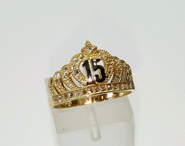 14K Little Queen Crown Ring