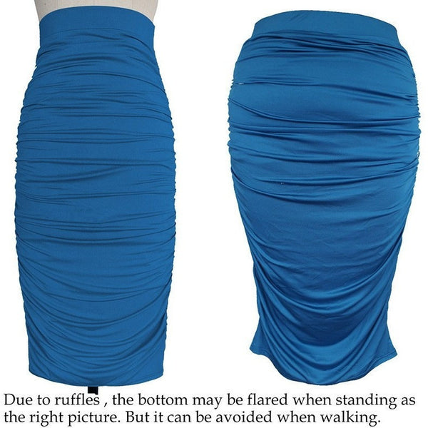 SKIRTS - Elegant Ruched Skirt