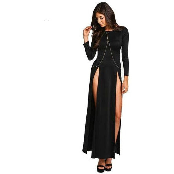 Women's Dress Collection - Sexy High Split Dress