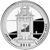 "2010 S Proof ""Hot Springs"" National Park Quarter - Arkansas"