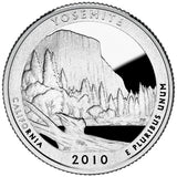 "2010 S Proof ""Yosemite"" National Park Quarter - California"
