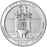"2010 P&D ""Hot Springs"" National Park Quarter Uncirculated Set - Arkansas"