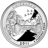 "2011 SILVER Proof ""Chickasaw"" National Park Quarter - Oklahoma"