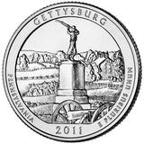 "2011 P&D ""Gettysburg"" National Military Park Quarter Uncirculated Set - Pennsylvania"