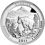 "2011 S Proof ""Glacier"" National Park Quarter - Montana"