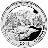 "2011 SILVER Proof ""Olympic"" National Park Quarter - Washington"
