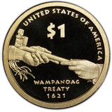 "2011 S Proof Native American ""Diplomacy"" Golden Dollar $1"
