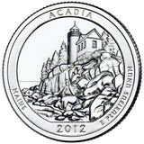 "2012 P,D,S ""Acadia"" National Park Quarter Uncirculated Set - Maine"