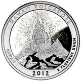 "2012 SILVER Proof ""Hawaii Volcanoes"" National Park Quarter - Hawaii"
