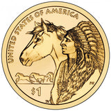 "2012 P&D Native American ""Trade"" Golden Dollar $1 Uncirculated Set"