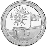 "2013 SILVER Proof ""Fort McHenry"" National Monument Quarter - Maryland"