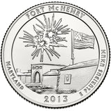 "2013 P,D,S ""Fort McHenry"" National Monument Quarter Uncirculated Set - Maryland"
