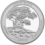"2013 SILVER Proof ""Great Basin"" National Park Quarter - Nevada"