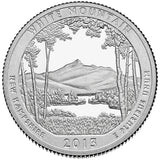 "2013 SILVER Proof ""White Mountain"" National Forest Quarter - New Hampshire"