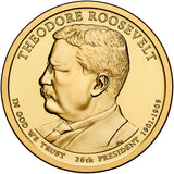 2013 P&D Theodore Roosevelt Presidential $1 Uncirculated Set