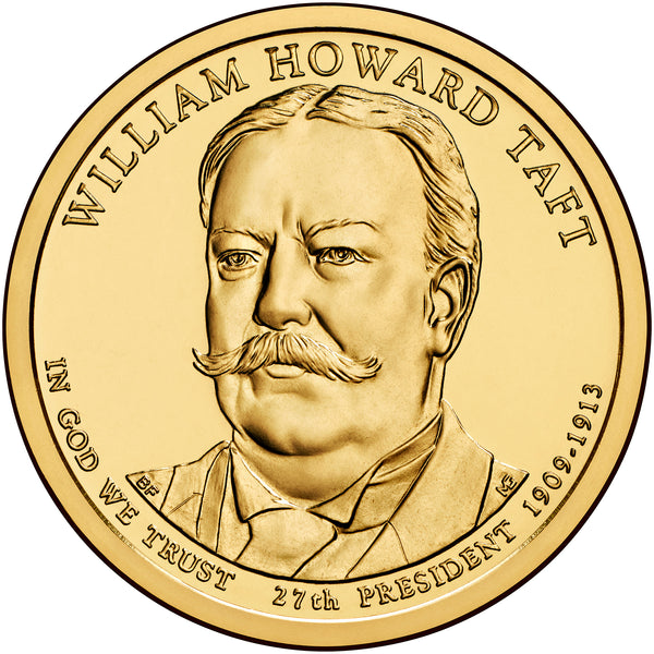 2013 P&D William Howard Taft Presidential $1 Uncirculated Set