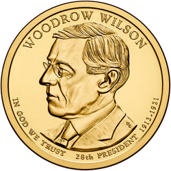 2013 P&D Woodrow Wilson Presidential $1 Uncirculated Set