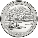"2014 SILVER Proof ""Great Sand Dunes"" National Park Quarter - Colorado"