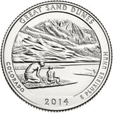 "2014 P,D,S ""Great Sand Dunes"" National Park Quarter Uncirculated Set - Colorado"
