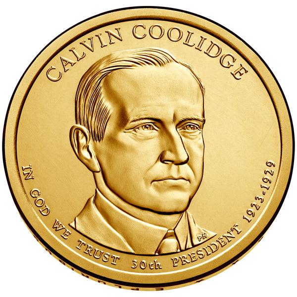 2014 P&D Calvin Coolidge Presidential $1 Uncirculated Set
