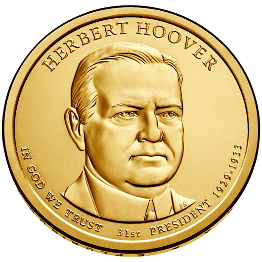 2014 P&D Herbert Hoover Presidential $1 Uncirculated Set