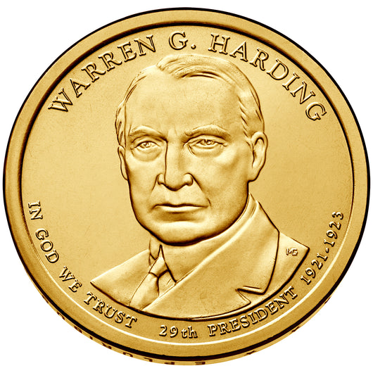 2014 P&D Warren G. Harding Presidential $1 Uncirculated Set
