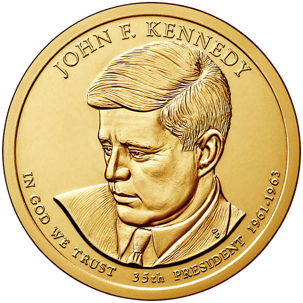 2015 P&D John F. Kennedy Presidential $1 Uncirculated Set