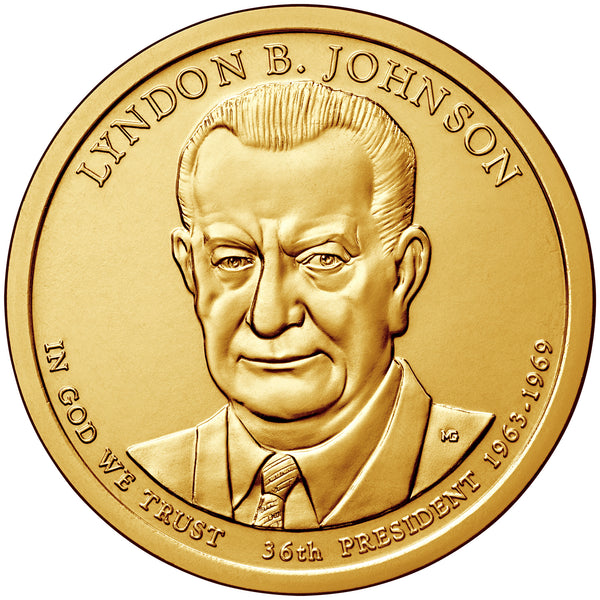 2015 P&D Lyndon B. Johnson Presidential $1 Uncirculated Set
