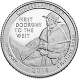 "2016 SILVER Proof ""Cumberland Gap"" National Historical Park Quarter - Kentucky"