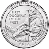 "2016 P,D,S ""Cumberland Gap"" National Historical Park Quarter Uncirculated Set - Kentucky"