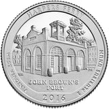 "2016 SILVER Proof ""Harpers Ferry"" National Historical Park Quarter - West Virginia"