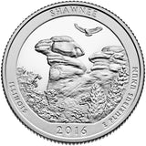 "2016 SILVER Proof ""Shawnee"" National Forest Quarter - Illinois"