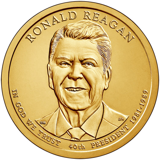 2016 P&D Ronald Reagan Presidential Golden Dollar BU Set