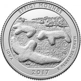 "2017 S Proof ""Effigy Mounds"" National Monument Quarter - Iowa"
