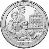 "2017 SILVER Proof ""Ellis Island"" Quarter - New Jersey"