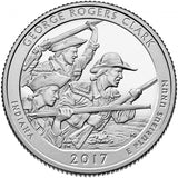 "2017 P,D,S ""George Rogers Clark"" National Historical Park Quarter Uncirculated Set - Indiana"