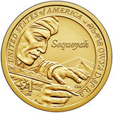 "2017 P&D Native American ""Sequoyah"" Golden Dollar $1 Uncirculated Set"