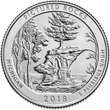 "2018 P,D,S ""Pictured Rocks"" National Lakeshore Quarter Uncirculated Set - Michigan"