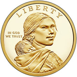 "2018 S Reverse Proof Native American ""Jim Thorpe"" Golden Dollar $1"