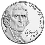2018 S Jefferson Nickel - Reverse Proof