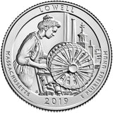 "2019 P,D,S ""Lowell"" National Historical Park Quarter Uncirculated Set - Massachusetts"