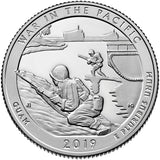 "2019 S Proof ""War In Pacific"" National Historical Park Quarter - Guam"