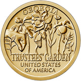 "2019 P&D American Innovation ""Trustees' Garden"" $1 Uncirculated Set - Georgia"